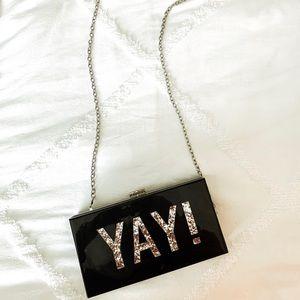 Handbags - YAY box clutch with chain